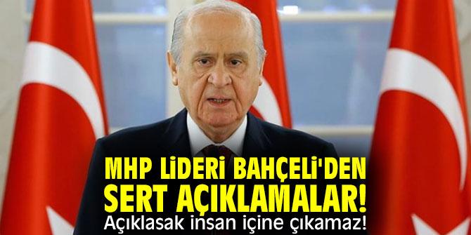 MHP lideri Bahçeli'den sert açıklamalar! Açıklasak insan içine çıkamaz!