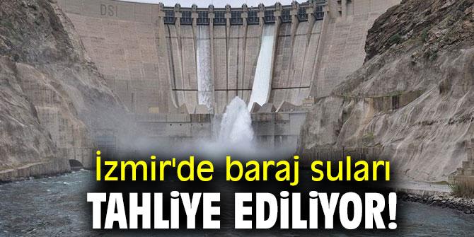 İzmir'de baraj suları tahliye ediliyor