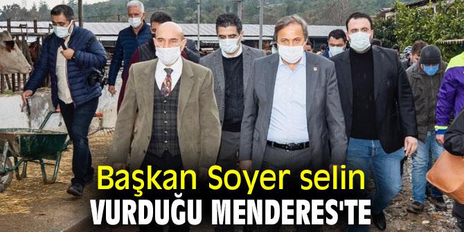Tunç  Soyer selin vurduğu Menderes'te