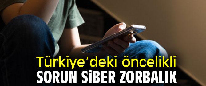 Türkiye'deki öncelikli sorun siber zorbalık