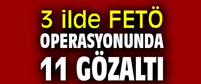 3 ilde FETÖ operasyonunda 11 gözaltı