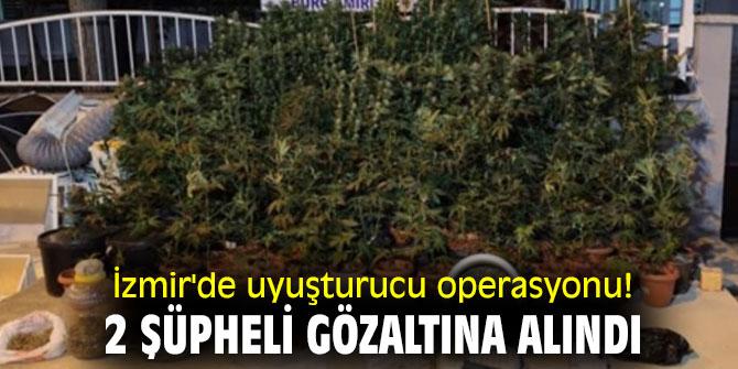 İzmir'de uyuşturucu operasyonu! 2 şüpheli gözaltına alındı