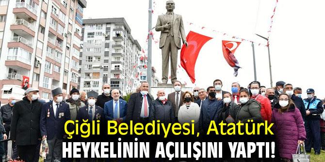 Çiğli Belediyesi, Atatürk Heykelinin açılışını yaptı!