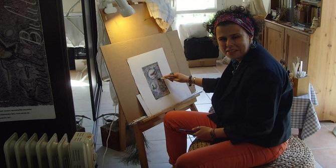 Foçalı ressam Cemile Bulut yeni sergisine hazırlanıyor
