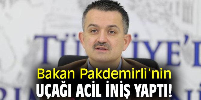 BAKAN PAKDEMİRLİ'NİN UÇAĞI ACİL İNİŞ YAPTI!