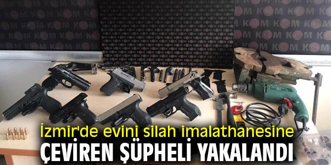 İzmir'de evini silah imalathanesine çeviren şüpheli yakalandı
