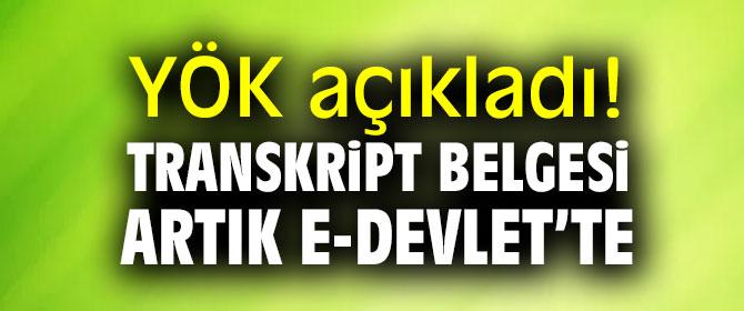 YÖK açıkladı! Transkript belgesi artık e-Devlet'te