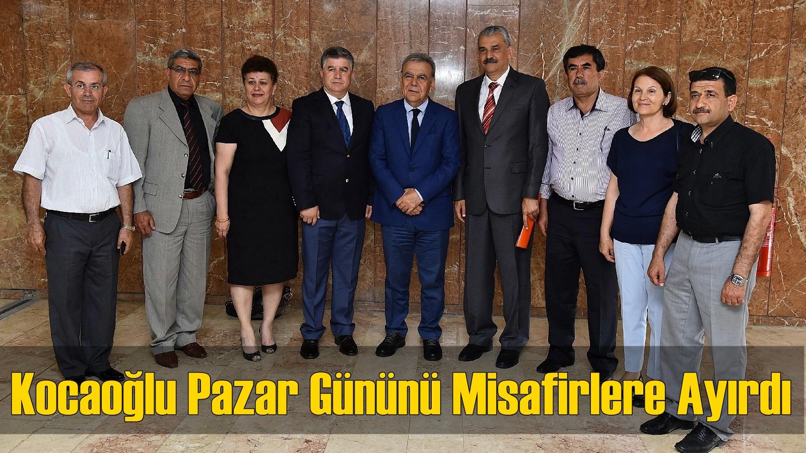 Başkan Kocaoğlu Pazar Gününü Misafirlere Ayırdı