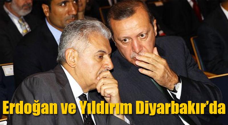 Recep Tayyip Erdoğan ve Binali Yıldırım Diyarbakır'da