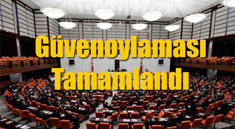 Meclis'te Güvenoylaması Sonuçlandı İşte Sonuçlar