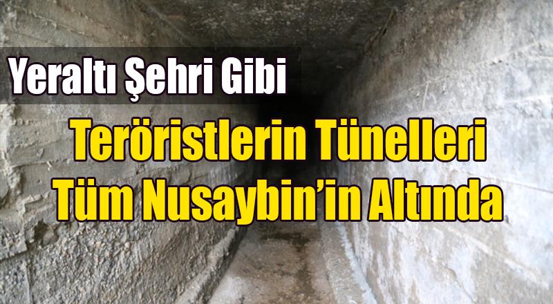 PKK Nusaybin'de Tünellerle Yeraltı Şehri Kurmuş
