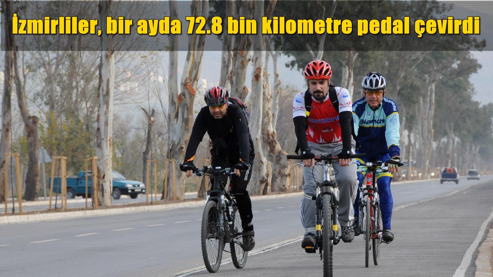 İzmirliler, Bir Ayda 72.8 Bin Kilometre Pedal Çevirdi