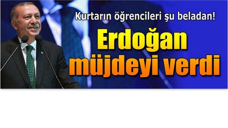 Erdoğan'dan Öğrencilere Formasyon Müjdesi