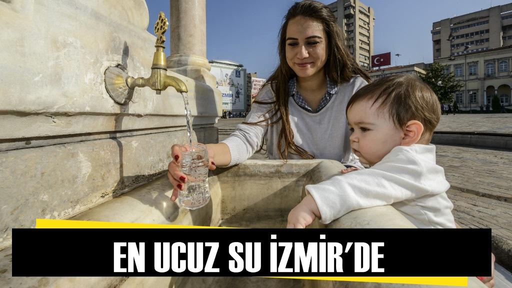 En Ucuz Suyu İzmirliler Kullanıyor