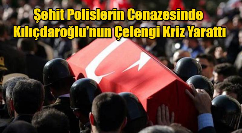 Şehit Polislerin Cenazesinde Kılıçdaroğlu'nun Çelengi Kriz Yarattı