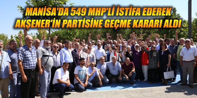 Manisa'da 549 MHP'li istifa ederek Akşener'in partisine geçme kararı aldı