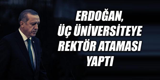 Erdoğan, üç üniversiteye rektör ataması yaptı