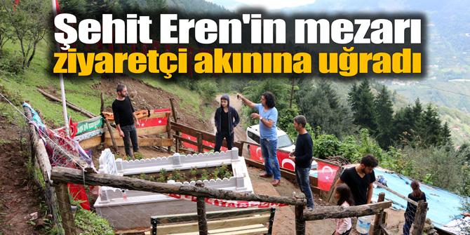 Şehit Eren'in mezarı ziyaretçi akınına uğradı