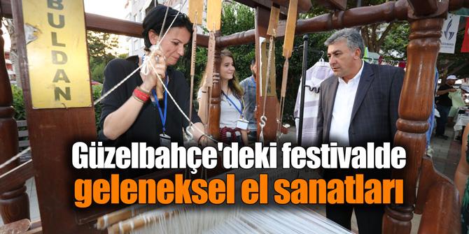 Güzelbahçe'deki festivalde geleneksel el sanatları