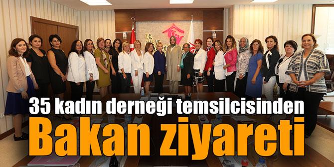 35 kadın derneği temsilcisinden Bakan ziyareti