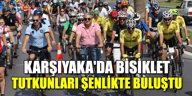Karşıyaka'da bisiklet tutkunları şenlikte buluştu