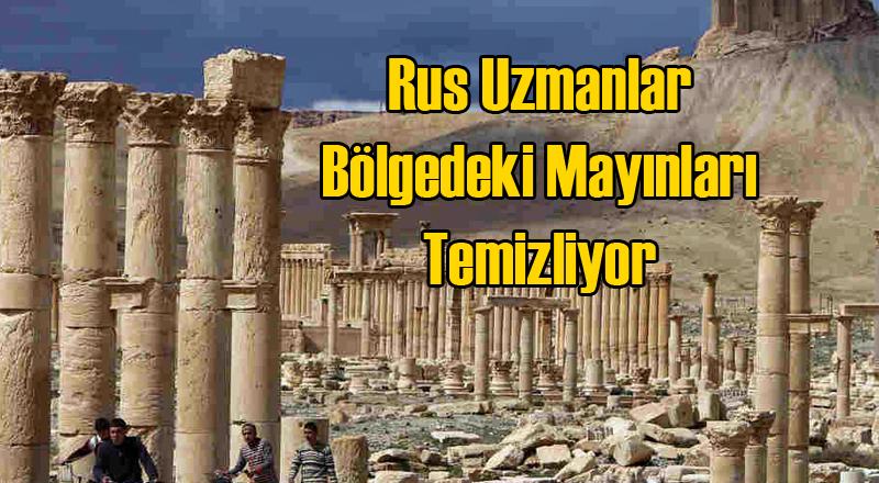 Ruslar Palmira'daki Kara Mayınlarını Temizlemeye Başladı