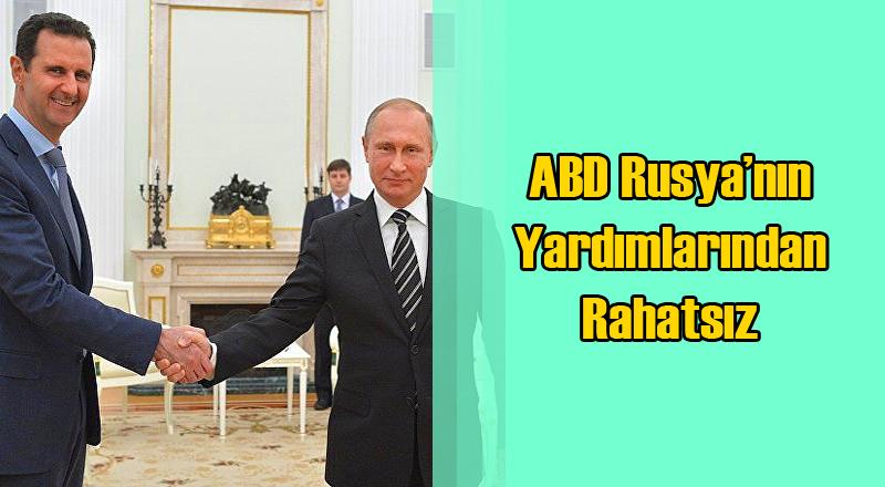ABD Rusya'nın Suriye'ye Yaptığı Silah Yardımından Rahatsız