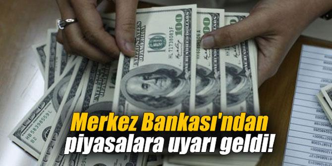 Merkez Bankası'ndan piyasalara uyarı geldi!