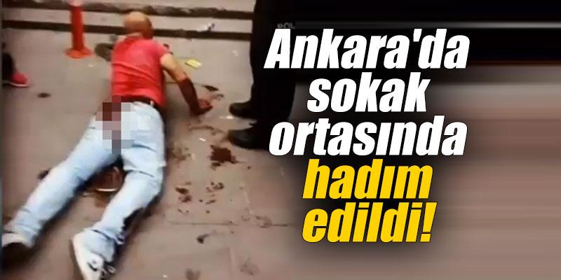 Ankara'da sokak ortasında hadım edildi!