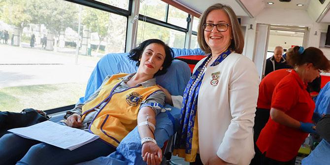 """""""Lions Hizmet Günü""""nde kan ve organ bağışı için yarıştılar"""
