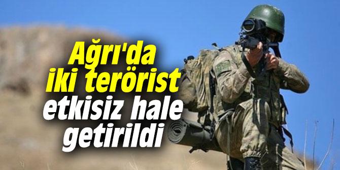 Ağrı'da iki terörist etkisiz hale getirildi
