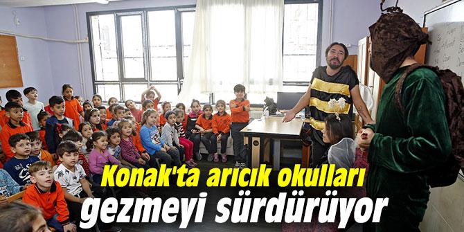 Konak'ta arıcık okulları gezmeyi sürdürüyor