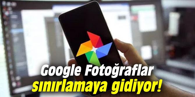 Google Fotoğraflar, sınırlamaya gidiyor!