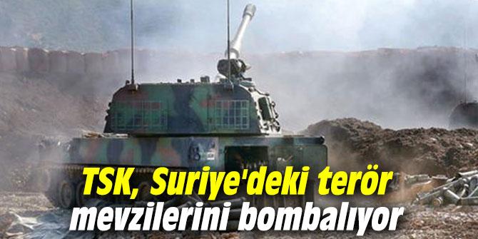TSK, Suriye'deki terör mevzilerini bombalıyor