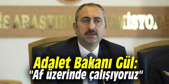 """Adalet Bakanı Gül: """"Af üzerinde çalışıyoruz"""""""