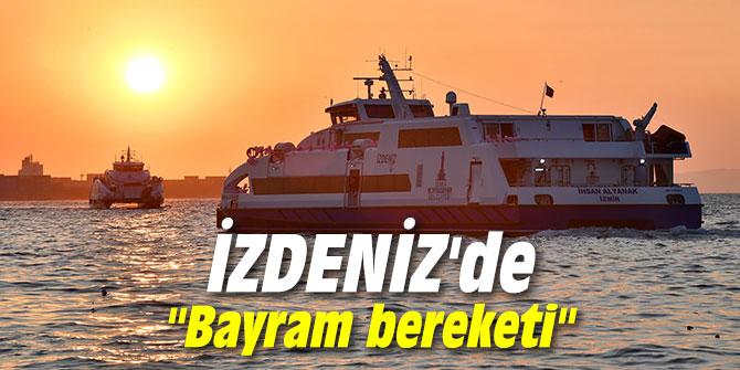 """İZDENİZ'de """"Bayram bereketi"""" yaşandı"""