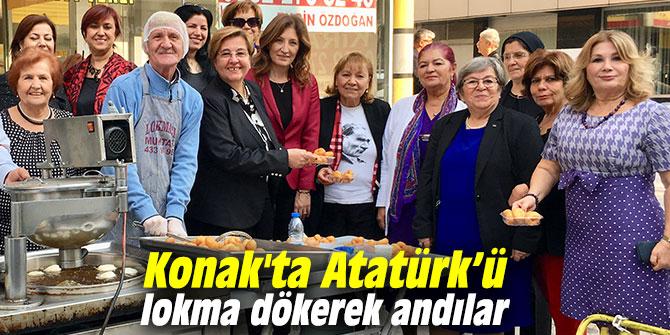Konak'ta Atatürk'ü lokma dökerek andılar