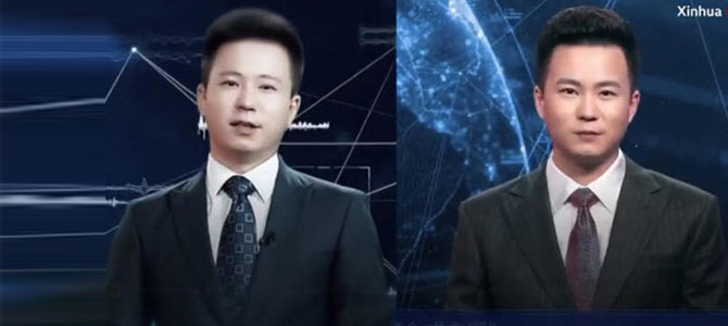 Çin'de yapay zekalı spiker haberleri sundu