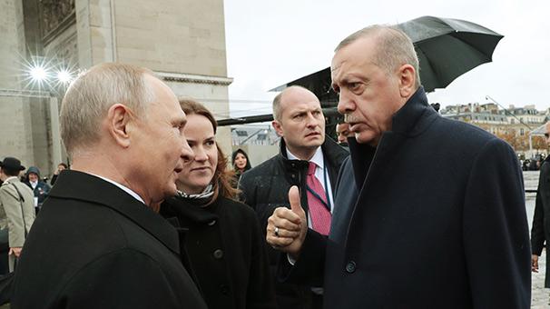 Erdoğan ile Putin Paris'te bir araya geldi
