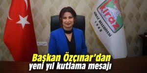 Başkan Özçınar'dan yeni yıl kutlama mesajı