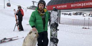 Yılbaşında kayak severler Erciyes'e akın etti