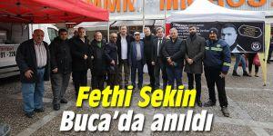 Kahraman şehit polis Fethi Sekin Buca'da anıldı