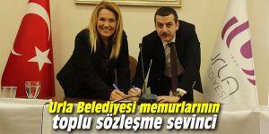 Urla Belediyesi memurlarının toplu sözleşme sevinci