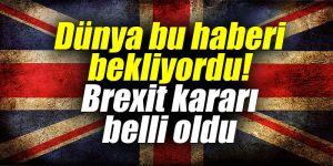 Dünya bu haberi bekliyordu! Brexit kararı belli oldu