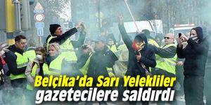 Belçika'da Sarı Yelekliler gazetecilere saldırdı