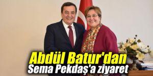 Abdül Batur'dan Sema Pekdaş'a ziyaret