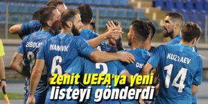 Zenit UEFA'ya yeni listeyi gönderdi