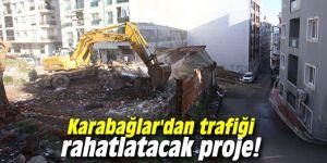 Karabağlar'dan trafiği rahatlatacak proje!