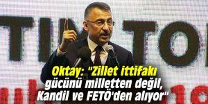 """Oktay: """"Zillet ittifakı gücünü milletten değil, Kandil ve FETÖ'den alıyor"""""""