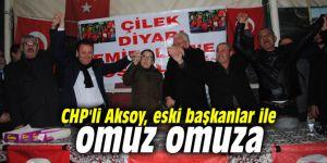 CHP'li Aksoy, eski başkanlar ile omuz omuza